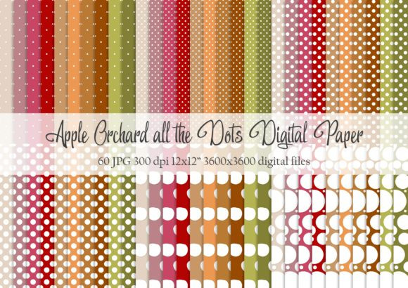 Download Free Apple Orchard All The Dots Digital Paper Graphic By Simply Paper for Cricut Explore, Silhouette and other cutting machines.