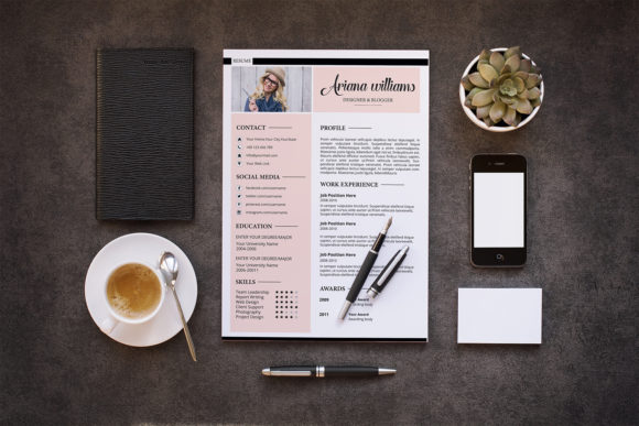 Download Free Ariana Professional Resume Template Graphic By Sistecbd for Cricut Explore, Silhouette and other cutting machines.