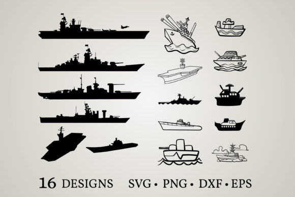Download Free Battleship Bundle Graphic By Euphoria Design Creative Fabrica for Cricut Explore, Silhouette and other cutting machines.
