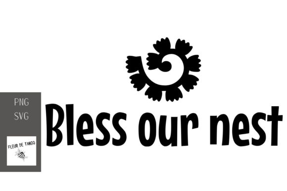 Print on Demand: Bless Our Nest Graphic Print Templates By Fleur de Tango