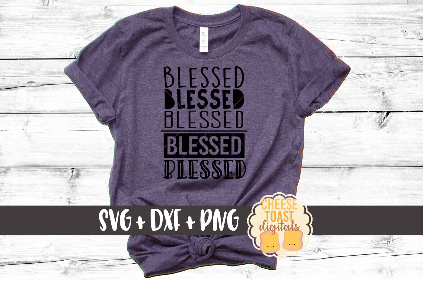 Download Free Blessed Graphic By Cheesetoastdigitals Creative Fabrica for Cricut Explore, Silhouette and other cutting machines.