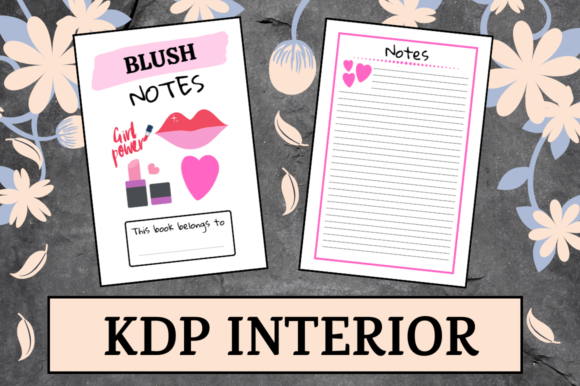 Print on Demand: Blush Notes | KDP Interior Graphic KDP Interiors By Hungry Puppy Studio
