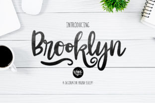 Print on Demand: Brooklyn Script & Handwritten Font By dixietypeco