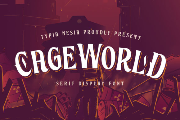 Print on Demand: Cageworld Display Font By Typia Nesia