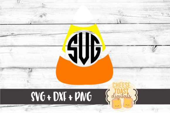 Download Free Candy Corn Monogram Frame Graphic By Cheesetoastdigitals for Cricut Explore, Silhouette and other cutting machines.
