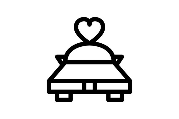 Car Black and White Line Icon (Graphic) by glyph