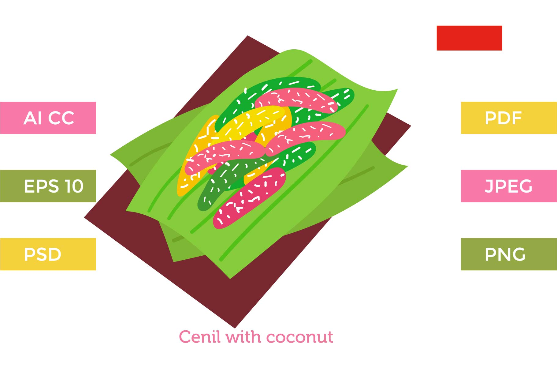 Download Free Cenil Indonesia Cakes Graphic By Griyolabs Creative Fabrica for Cricut Explore, Silhouette and other cutting machines.