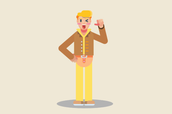 Download Free Characters Of A Boy With Farmer Clothe Graphic By Altumfatih for Cricut Explore, Silhouette and other cutting machines.