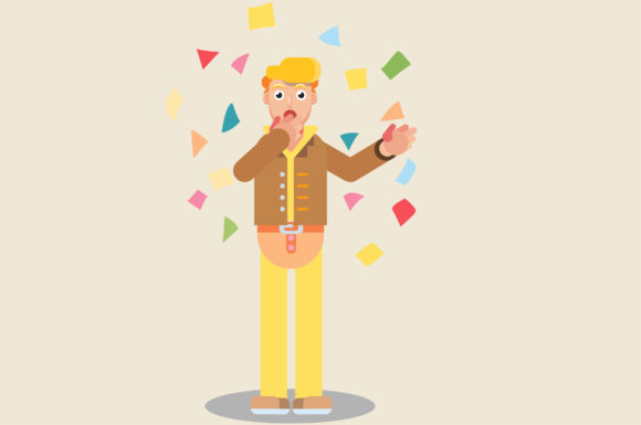 Download Free Characters Of Surprised Man Graphic By Altumfatih Creative Fabrica SVG Cut Files