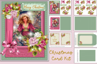 Download Free Christmas Card Kit Graphic By The Paper Princess Creative Fabrica for Cricut Explore, Silhouette and other cutting machines.