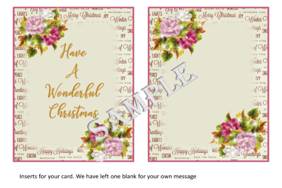 Christmas Card Kit Graphic By The Paper Princess Creative Fabrica