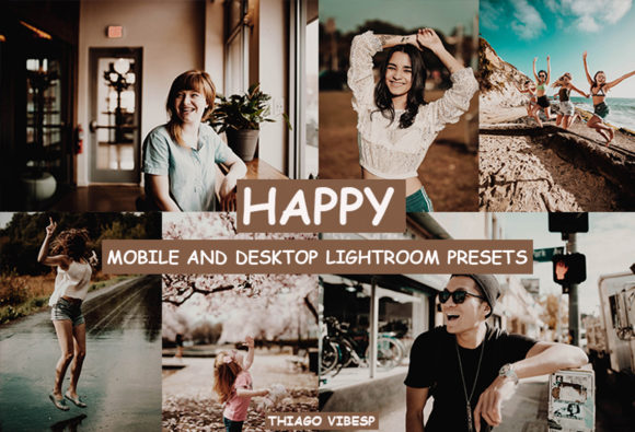 Cinematic Happy Lightroom Presets Graphic Actions & Presets By Thiago Vibesp Creative