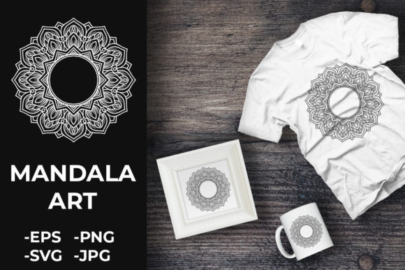 Download Free Circular Pattern Mandala Art 202 Graphic By Azrielmch for Cricut Explore, Silhouette and other cutting machines.