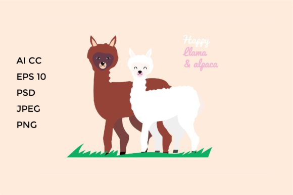 Download Free Cute Alpaca Love Graphic By Griyolabs Creative Fabrica for Cricut Explore, Silhouette and other cutting machines.
