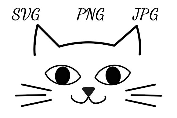 Download Free Cute Cat Face Drawing Graphic By Almdrs Creative Fabrica for Cricut Explore, Silhouette and other cutting machines.