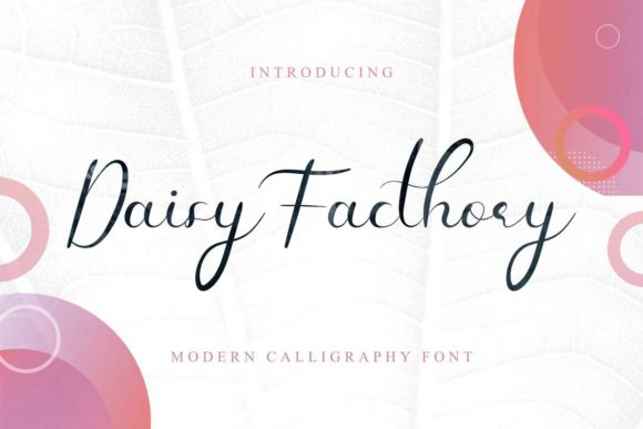 Download Free Daisy Facthory Font By Edricstudio Creative Fabrica for Cricut Explore, Silhouette and other cutting machines.