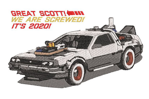 Download Free Delorean Iconic Car Back To The Future Creative Fabrica for Cricut Explore, Silhouette and other cutting machines.