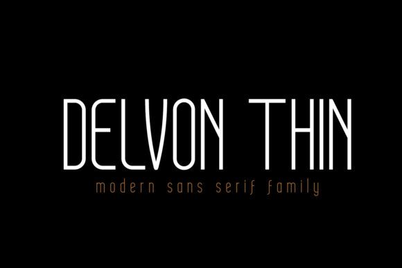 Print on Demand: Delvon Thin Sans Serif Font By madeDeduk