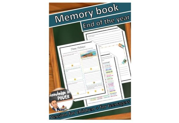 Download Free Digital Memory Book End Of The Year Graphic By Alifarid for Cricut Explore, Silhouette and other cutting machines.