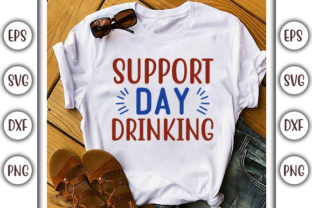 Print on Demand: Drinking Design, Support Day Drinking Graphic Print Templates By GraphicsBooth