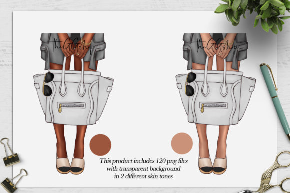 Print on Demand: Fashion Girls Bag Illustration Set Graphic Illustrations By TheGGShop