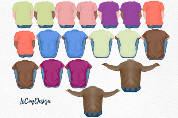 Father and Children Clipart Graphic Illustrations By LeCoqDesign - Image 2