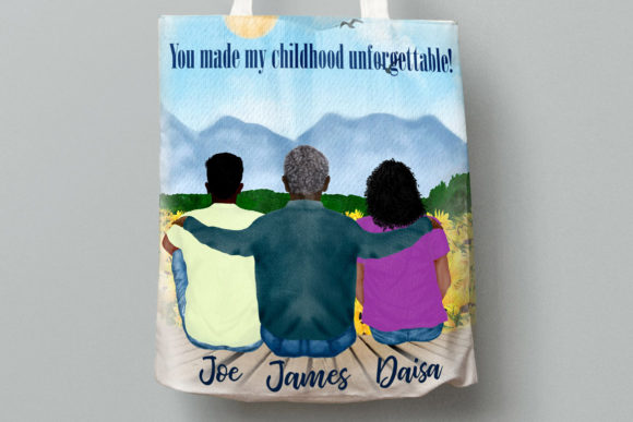 Father and Children Clipart Graphic Illustrations By LeCoqDesign - Image 7