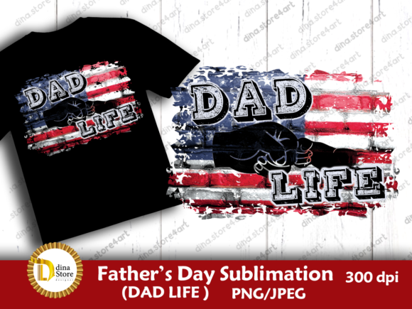 Download Free Father S Day Dad Life Sublimation Graphic By Dina Store4art SVG Cut Files