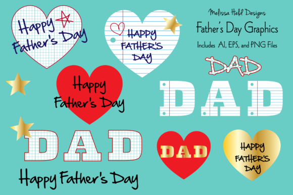 Download Free Father S Day Graphics Graphic By Melissa Held Designs Creative for Cricut Explore, Silhouette and other cutting machines.
