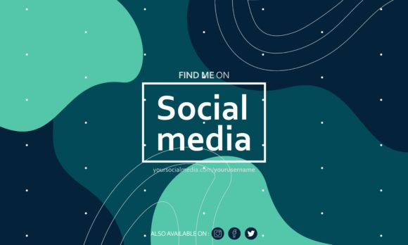 Download Free Find Me On Social Media Background Graphic By Deemka Studio for Cricut Explore, Silhouette and other cutting machines.