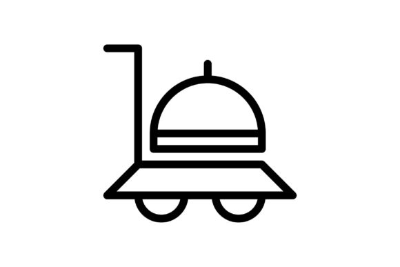 Download Free Food Black And White Line Icon Graphic By Glyph Faisalovers for Cricut Explore, Silhouette and other cutting machines.