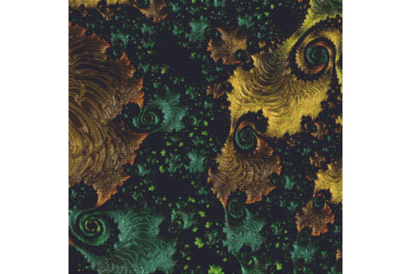 Download Free Fractal Cross Stitch Pattern Black Graphic By Stitchx Designs for Cricut Explore, Silhouette and other cutting machines.