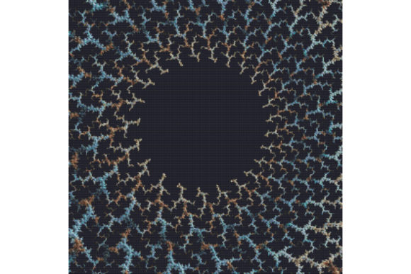 Print on Demand: Fractal Cross Stitch Pattern - Black Graphic Cross Stitch Patterns By StitchX Designs