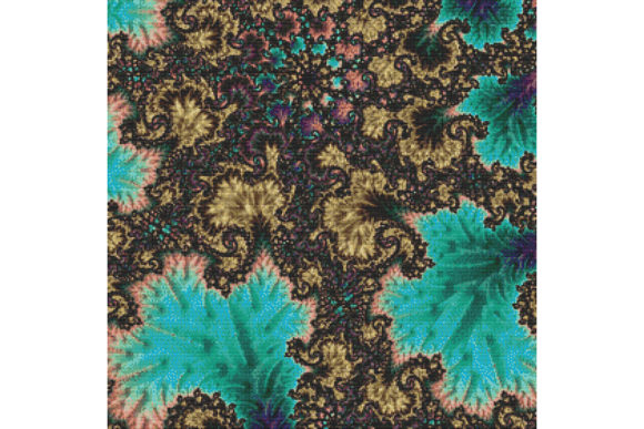 Print on Demand: Fractal Cross Stitch Pattern - Blue Graphic Cross Stitch Patterns By StitchX Designs