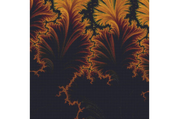 Print on Demand: Fractal Cross Stitch Pattern - Brown Graphic Cross Stitch Patterns By StitchX Designs