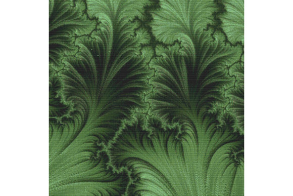 Print on Demand: Fractal Cross Stitch Pattern - Green Gráfico Patrones de punto de cruz Por StitchX Designs