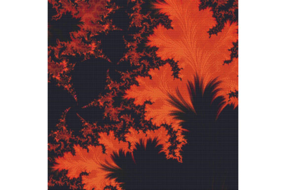 Print on Demand: Fractal Cross Stitch Pattern - Orange Graphic Cross Stitch Patterns By StitchX Designs