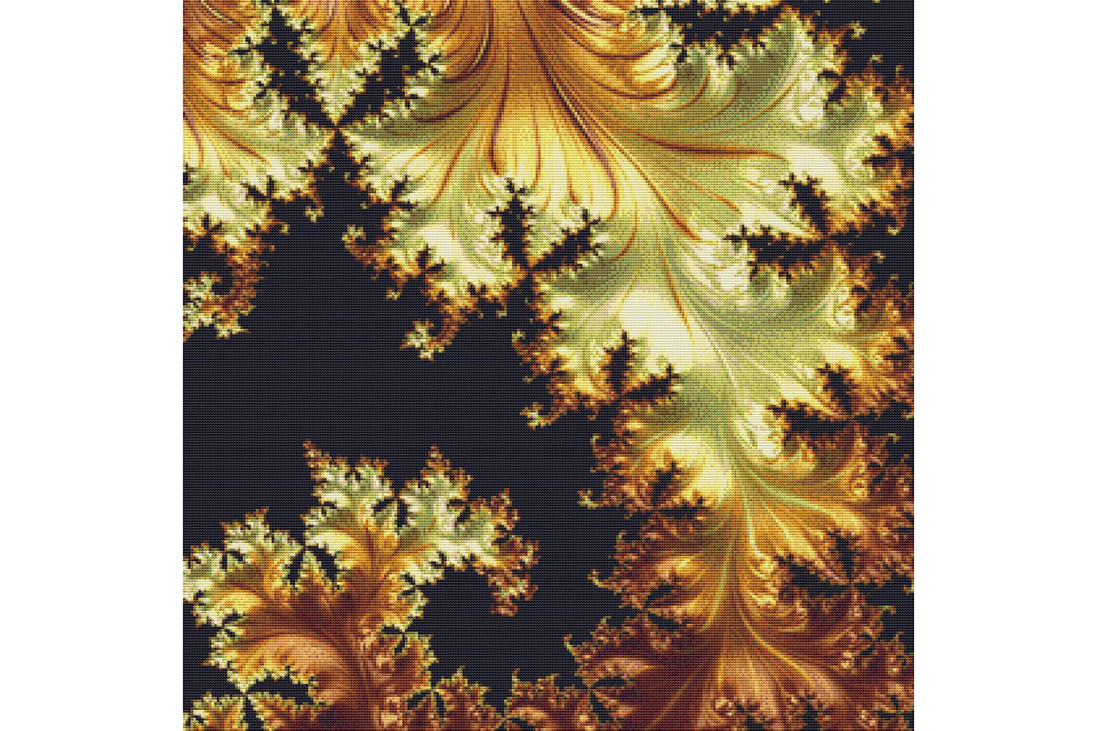 Download Free Fractal Cross Stitch Pattern Orange Graphic By Stitchx Designs for Cricut Explore, Silhouette and other cutting machines.