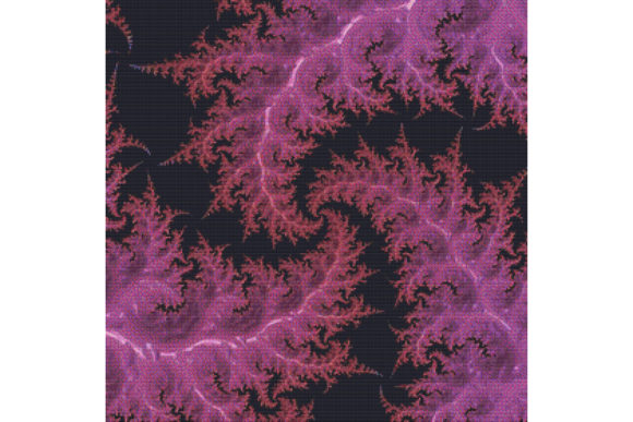 Print on Demand: Fractal Cross Stitch Pattern - Pink Graphic Cross Stitch Patterns By StitchX Designs