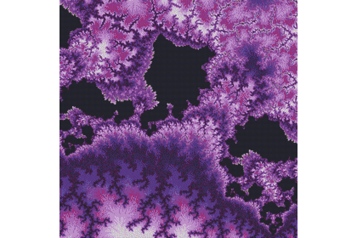 Download Free Fractal Cross Stitch Pattern Purple Graphic By Stitchx Designs for Cricut Explore, Silhouette and other cutting machines.