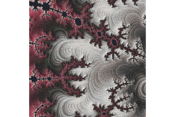 Fractal Cross Stitch Pattern White Graphic By Stitchx Designs