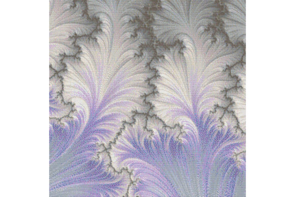Print on Demand: Fractal Cross Stitch Pattern - White Graphic Cross Stitch Patterns By StitchX Designs