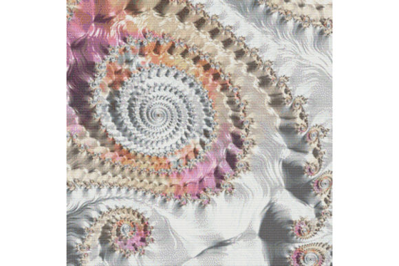 Download Free Fractal Cross Stitch Pattern White Graphic By Stitchx Designs for Cricut Explore, Silhouette and other cutting machines.