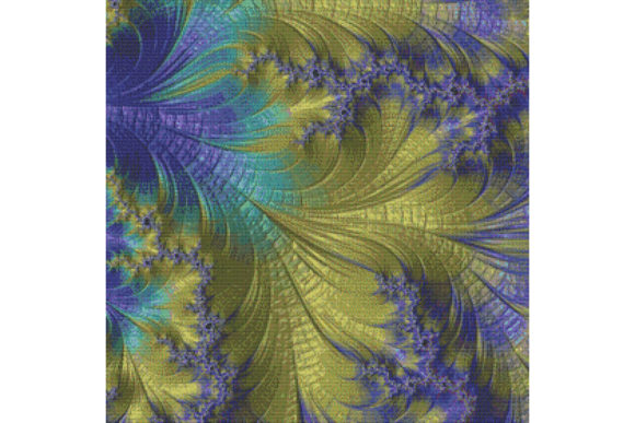 Print on Demand: Fractal Cross Stitch Pattern - Yellow Graphic Cross Stitch Patterns By StitchX Designs