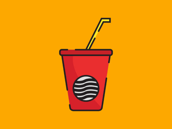 Download Free Fresh Drink Icon Striped Outline Graphic By Meandmydate for Cricut Explore, Silhouette and other cutting machines.