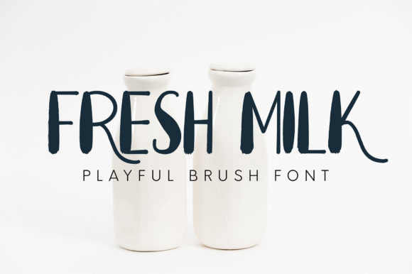 Print on Demand: Fresh Milk Display Font By Omotu