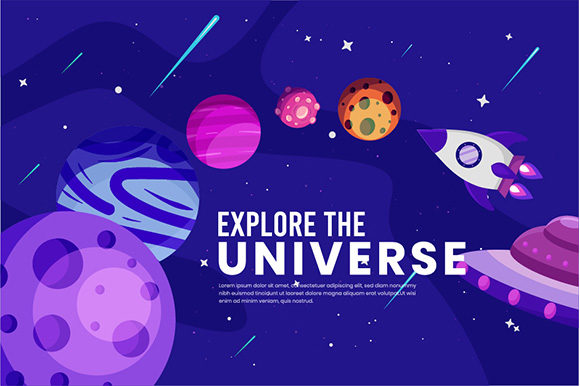 Galaxy Space Concept Background Graphic Backgrounds By apple