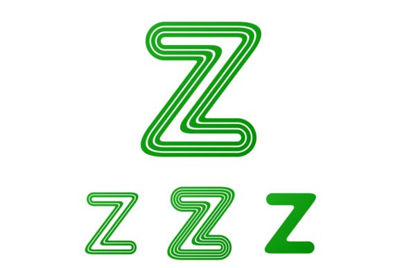 Download Free Green Line Letter Z Logo Design Set Graphic By Davidzydd for Cricut Explore, Silhouette and other cutting machines.