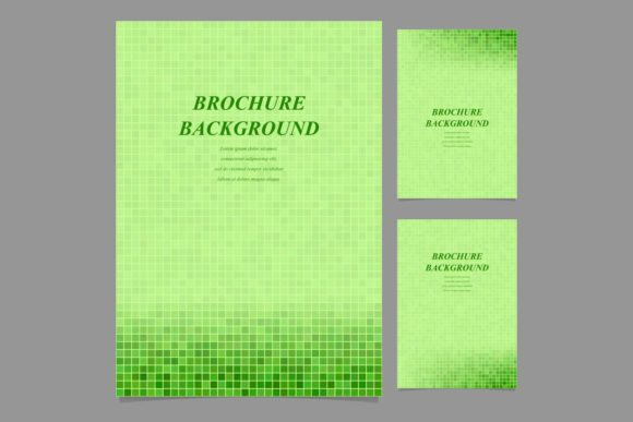 Download Free Green Square Pixel Brochure Backgrounds Graphic By Davidzydd for Cricut Explore, Silhouette and other cutting machines.