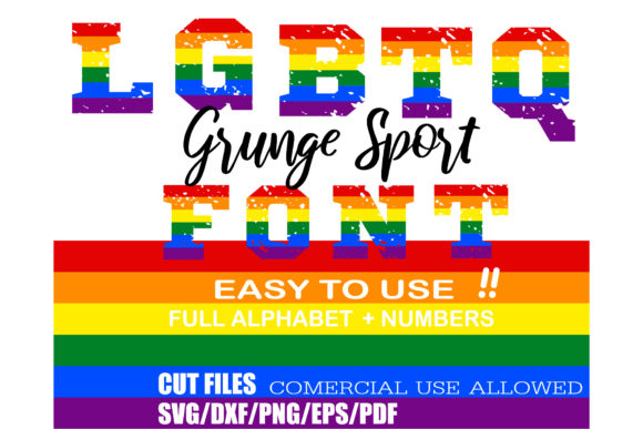 Download Free Grunge Sport Pride Lgbtq Alphabet Graphic By Ktwop Creative for Cricut Explore, Silhouette and other cutting machines.